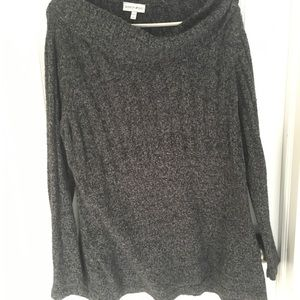 Charcoal Cowl-Neck Thick Sweater 18/20W
